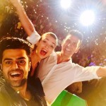 Manish Paul selfie with gorgeous Amy Jackson and handsome Akshay Kumar
