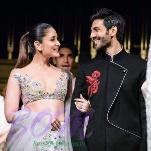 Its all smiling when Kartik Aaryan met Kareena Kapoor Khan
