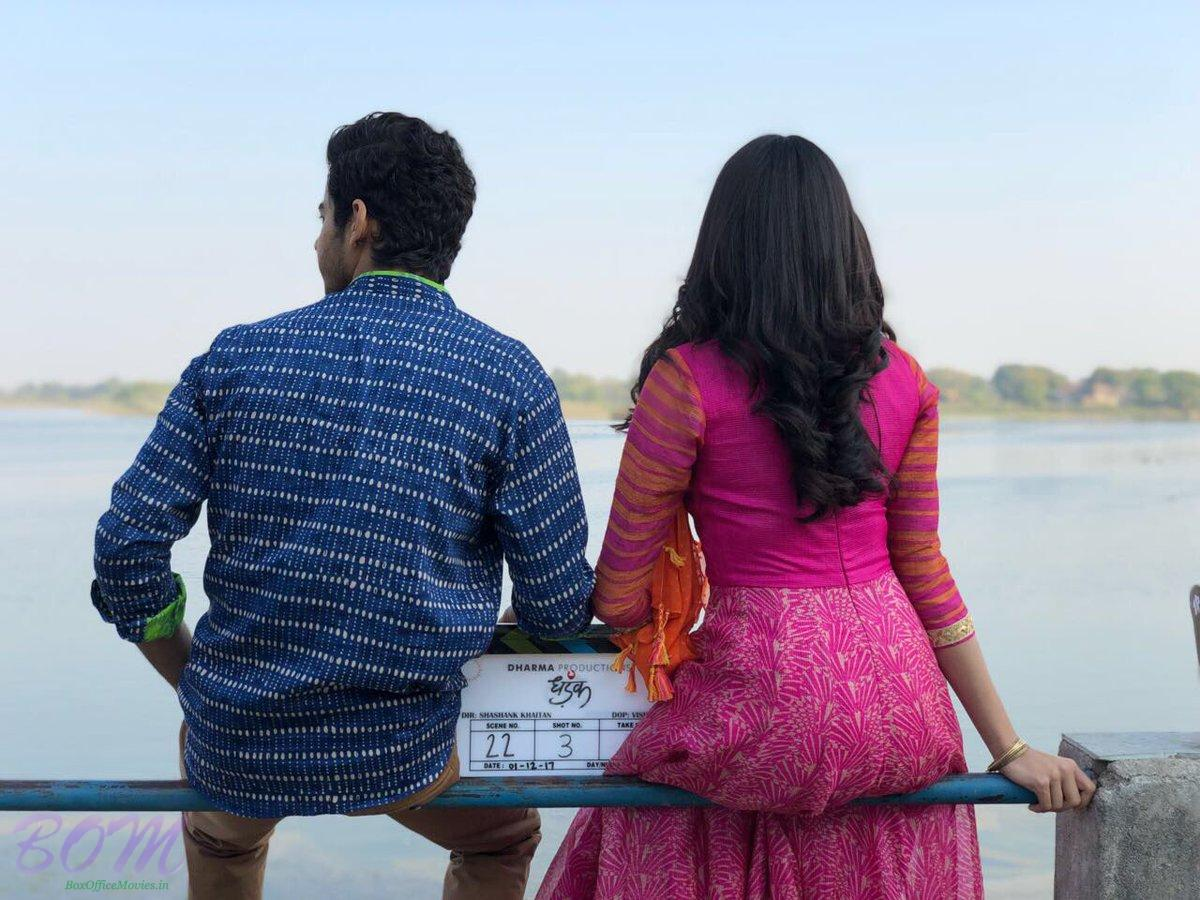 JAHNVI and ISHAAN shooting for Dhadak