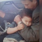 Jackie Shroff ‏with kid Tiger Shroff