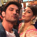 Jacqueline Fernandez and Sushant Singh Rajput doing a pout together