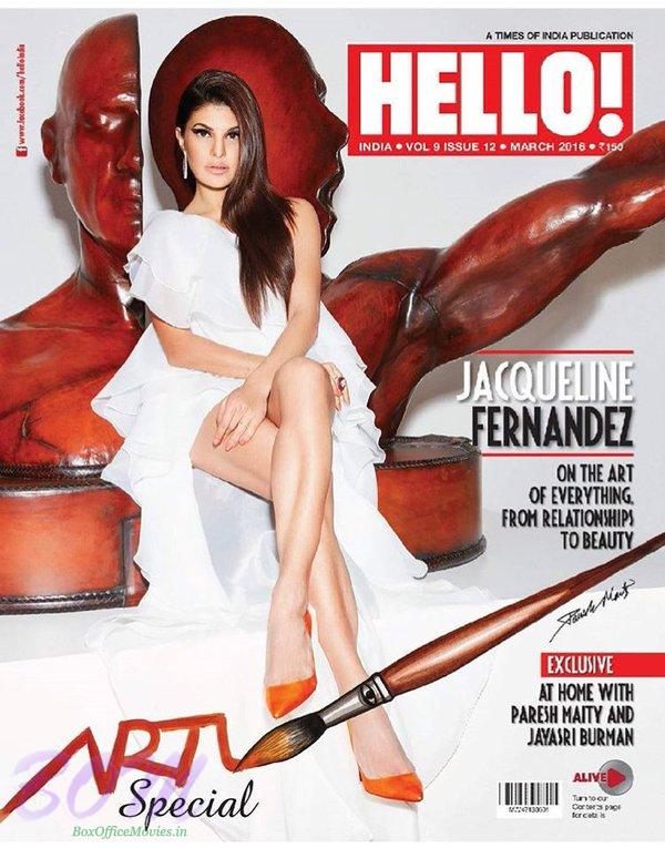 Jacqueline Fernandez cover girl picture for Hello Magazine March 2016