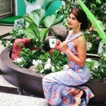 Jacqueline Fernandez tea party in the garden