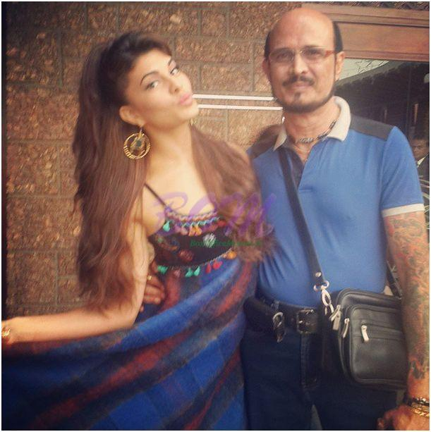 Jacqueline Fernandez with her proud Father
