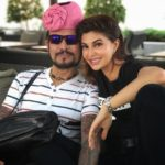 Jacqueline Fernandez with her Father