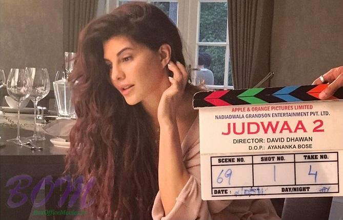 Jacqueline Fernandez with the clipper of JUDWAA 2