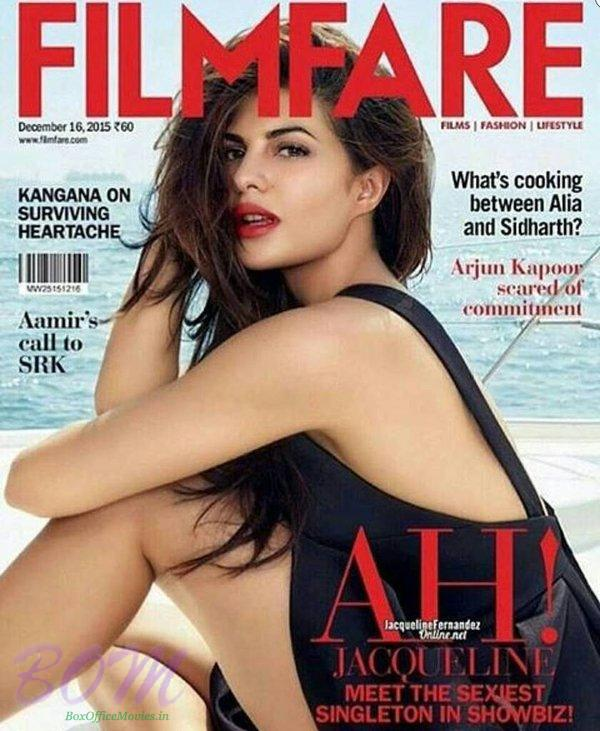 Jacqueline Fernandez cover girl for Filmfare Magazine Dec 2015 issue