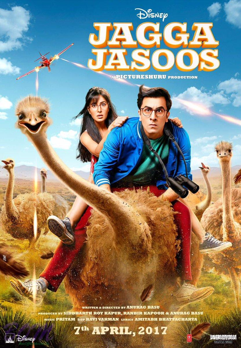 Jagga Jasoos movie poster as on 19 Dec 2016