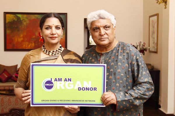 Javed Akhtar and Shabana Azmi pledged their organs with NGO Organ India