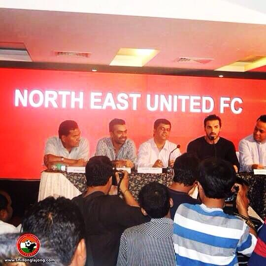 John Abraham - North East United FC launched as part of the Indian Super League in football.