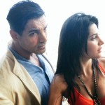 John Abraham and Shruti Haasan picture from the shoot of Rocky Handsome movie