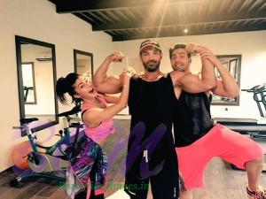 John Abraham got pumped on the sets of Dishoom while Jacqueline and Varun surprised