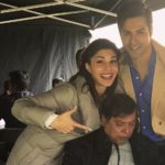 Judwaa 2 director David Dhawan with leading stars Varun and Jacqueline