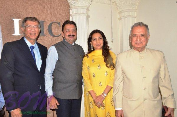Juhi Chawla with Mr Hiranandani , Dr Sanjay Deshmukh , myself and Mr Nanik Rupani