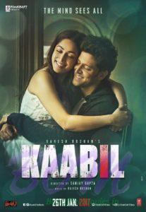 Yami Gautam and Hrithik Roshan starrer Kaabil movie poster