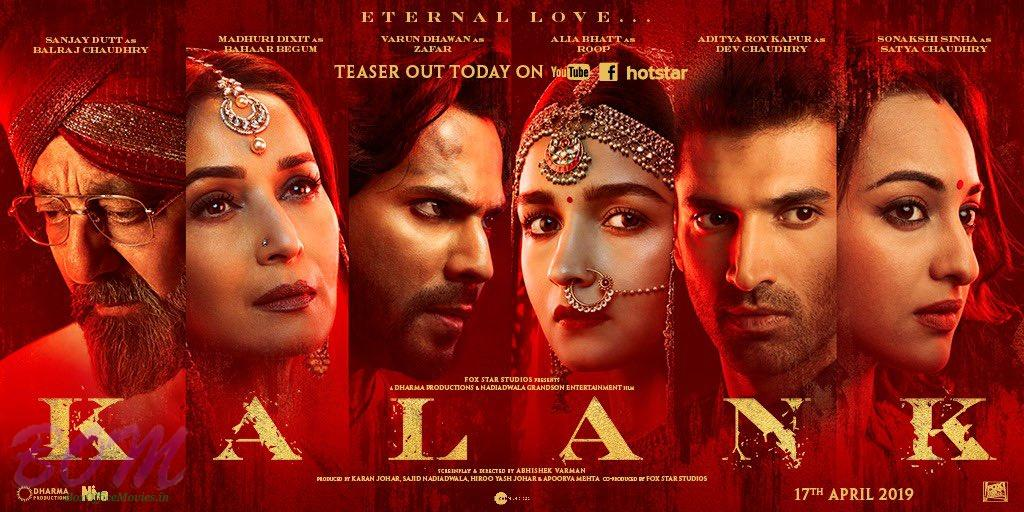 KALANK Movie Teaser With New Poster