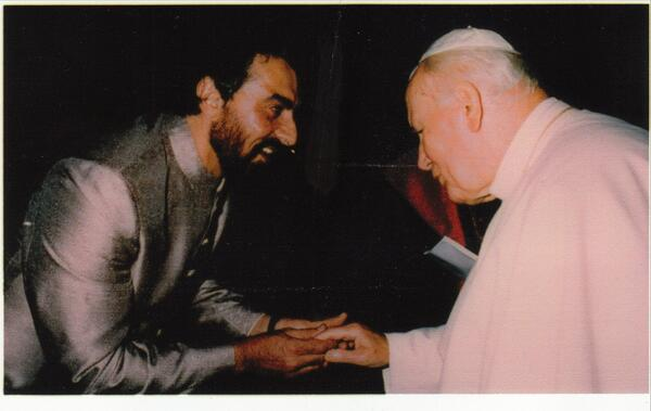Kabir Bedi - Thrilled that Pope John Paul, who I was honoured to meet, declared SAINT today, along with Pope John XXIII.