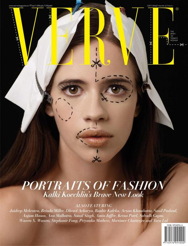 Kalki Koechlin Portraits Cover Girl for verve magazine