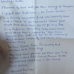 Kalki Koechlin greeting letter from a fan for performance in Yeh Jawani Hai Diwani