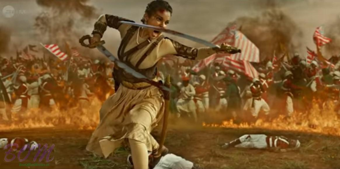 Kangana Ranaut action in Manikarnika - The Queen of Jhansi