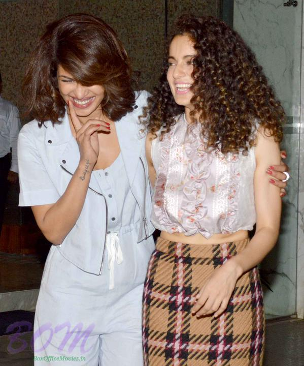 Kangana Ranaut and Priyanka Chopra laugh out loud at their success bash