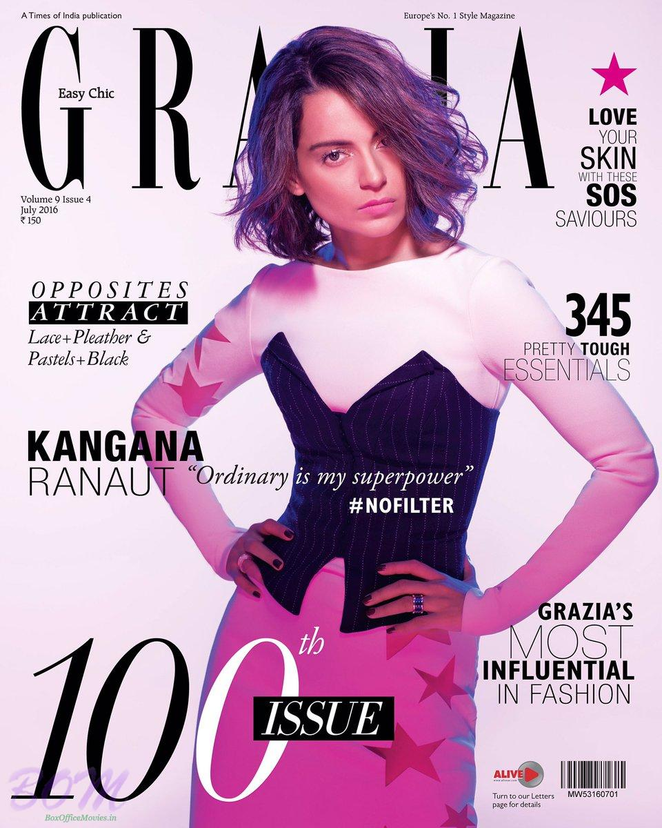 Kangana Ranaut cover girl for Grazia India July 2016 issue