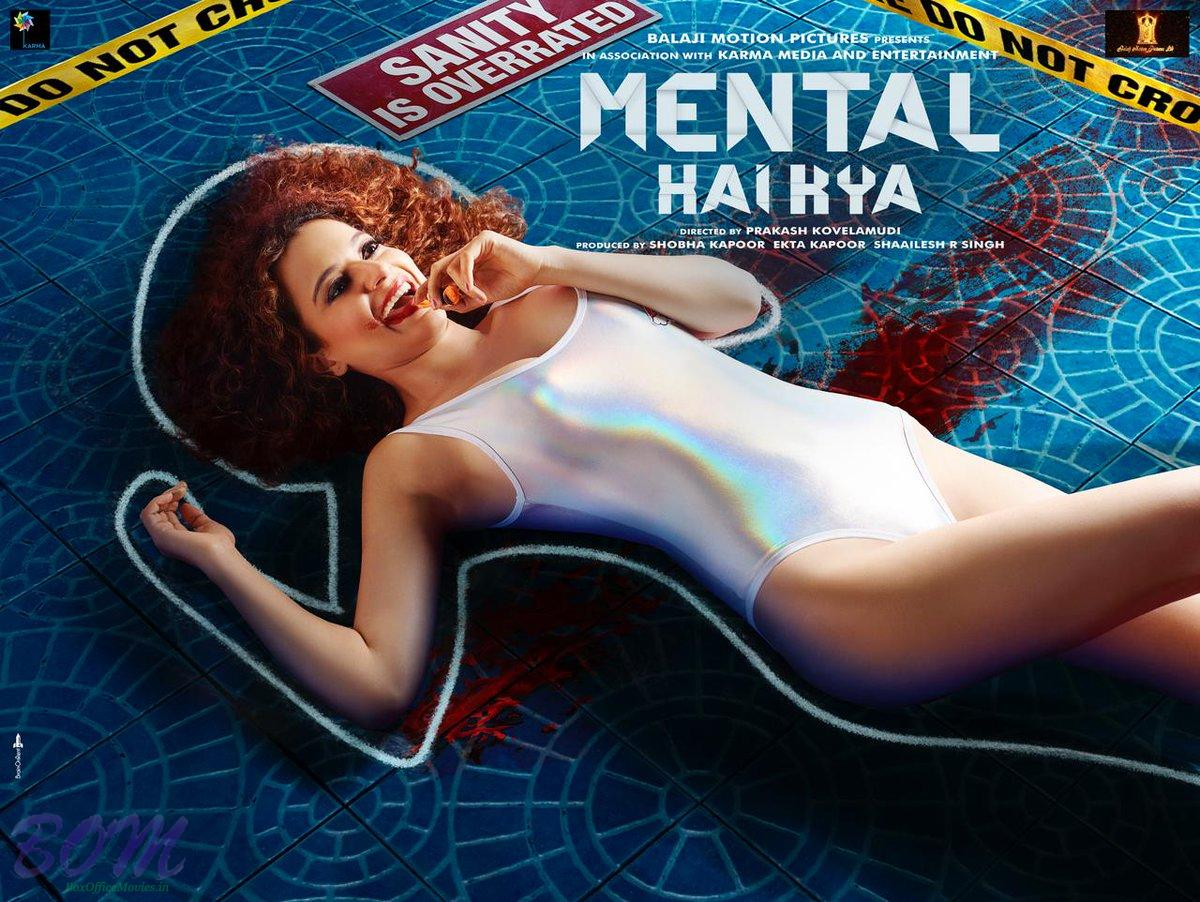 Kangana Ranaut starrer murderful poster of Mental Hai Kya movie