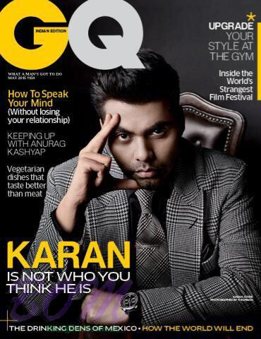 Karan Johar cover boy for GQ India May 2015 Issue