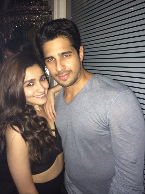Karan Johar shared this picture with word 'The pair waiting to happen Sid and Alia'