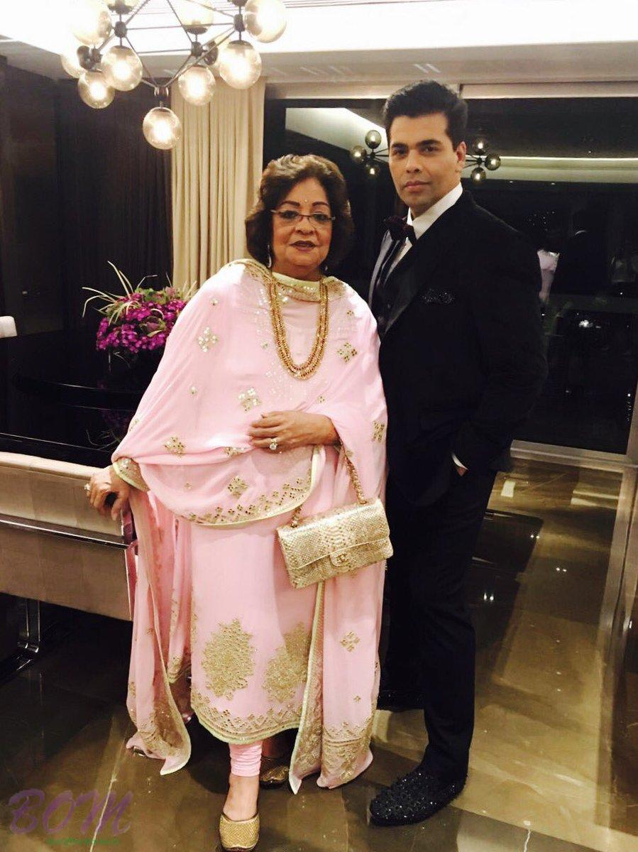 Karan Johar with his mother on Mothers Day 2017
