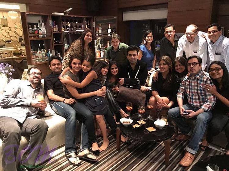 Karan Johar with his school and college friends
