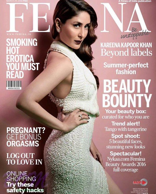 Kareena Kapoor Khan Cover Girl for FEMINA March 2016 issue