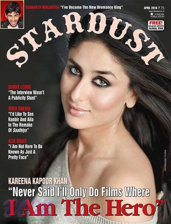 Kareena Kapoor cover girl for Stardust April 2016 issue