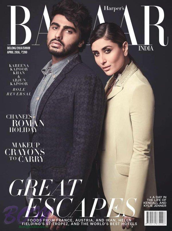 Kareena Kapoor cover girl with Arjun Kapoor in Harpar Magazine April 2016 issue
