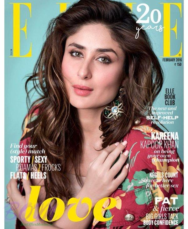Kareena Kapoor cover page girl for ElleIndia Feb 2016 issue