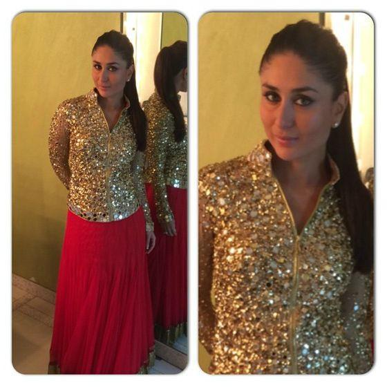Kareena Kapoor in a Manish Malhotra creation during an awards function
