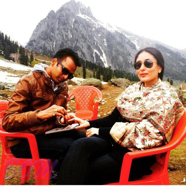 Kareena Kapoor on the set of Bajrangi Bhaijaan