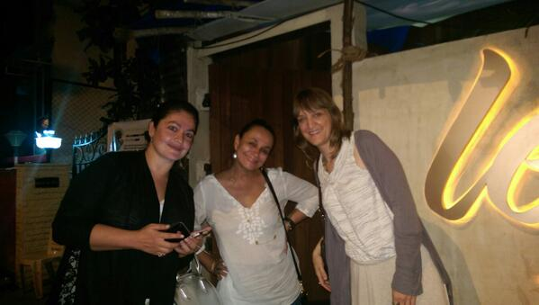 Karen Tenkoff the producer of THE MOTORCYCLE DIARIES with Soni and Pooja Bhatt