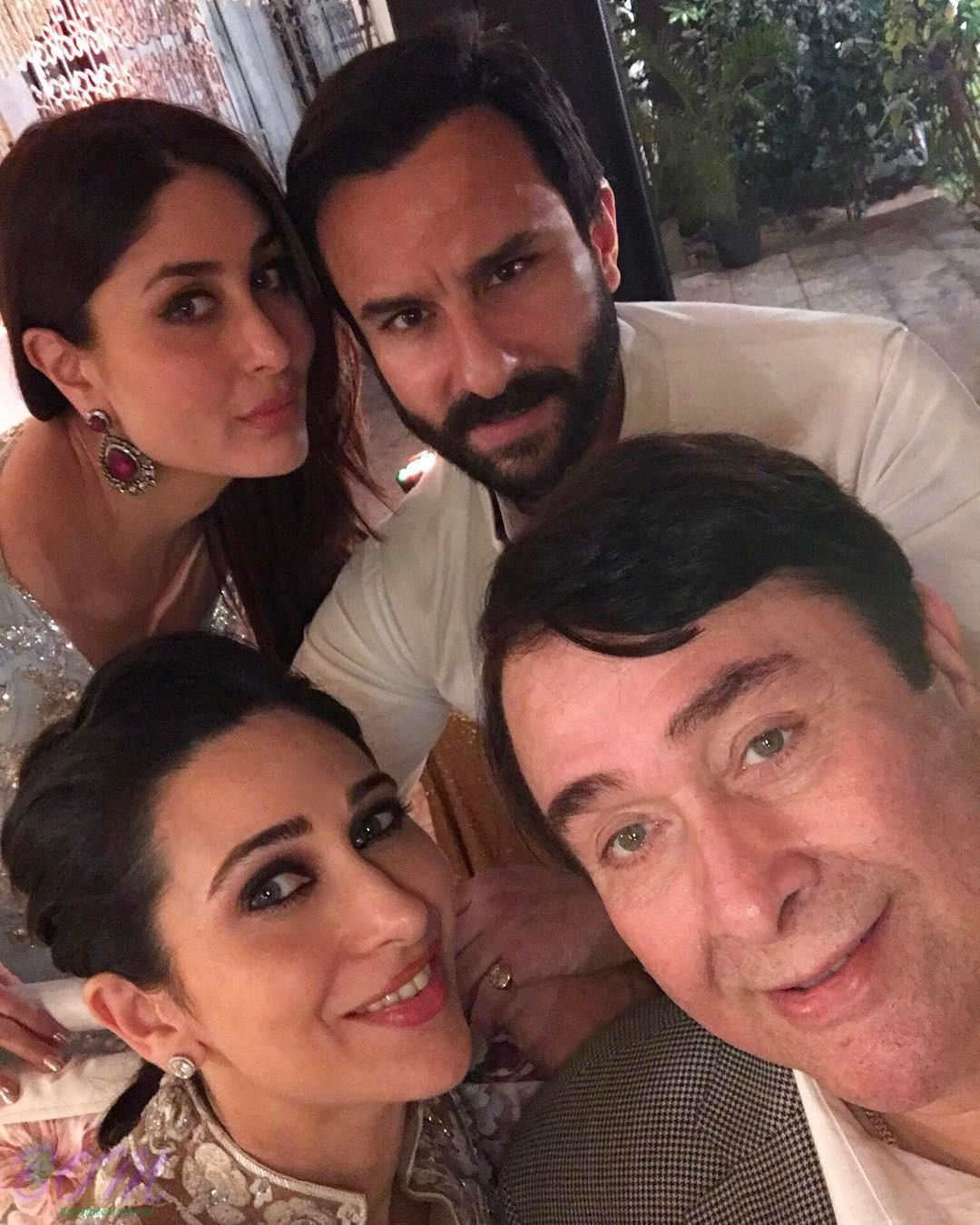 Karishma Kapoor Birthday 2017 selfie with Kareena, Saif and Randheer Kapoor