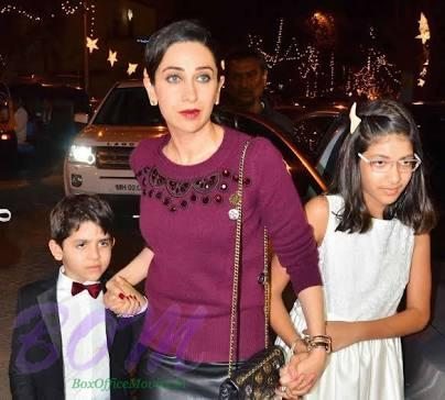 Karishma Kapoor with her kids