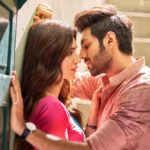 Kartik Aaryan and Kriti Sanon romantic scene out from Luka Chuppi film