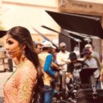 Katrina Kaif classical look while shooting for ZERO the film in Mumbai City
