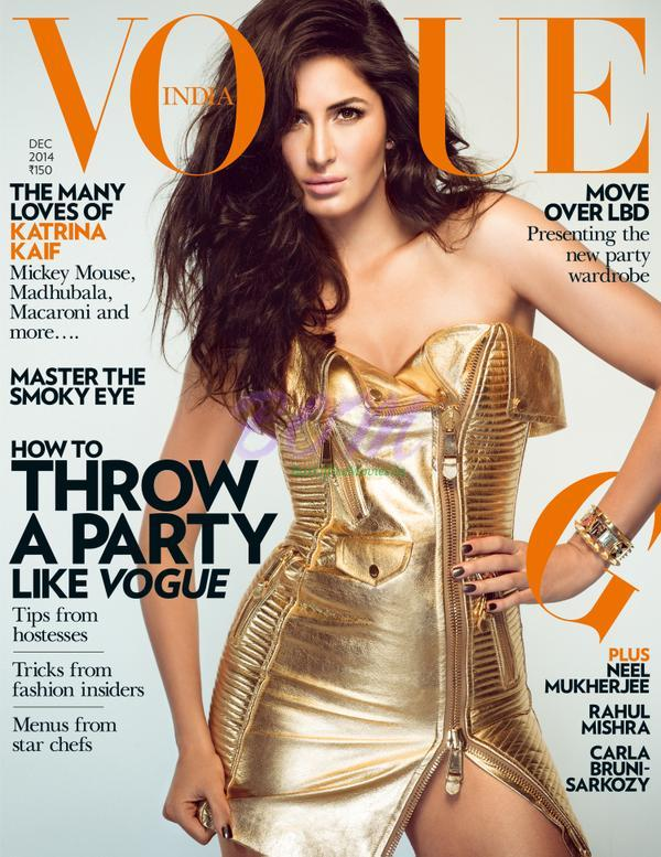 Katrina Kaif on the cover page of Vogue India magazine December 2014 issue
