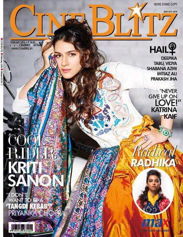 Kriti Sanon cover girl for CineBlitz March 2016