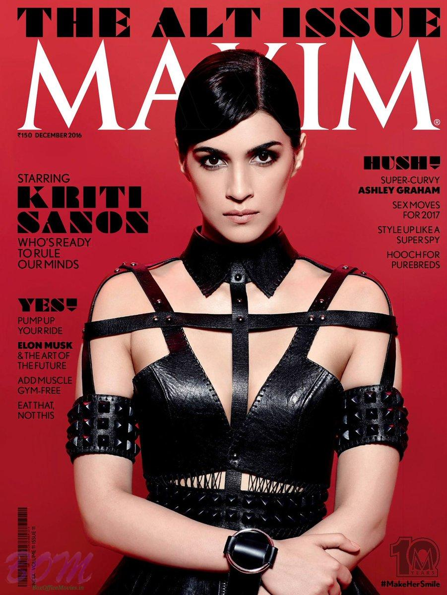 Kriti Sanon cover girl for Maxim India Dec 2016 issue