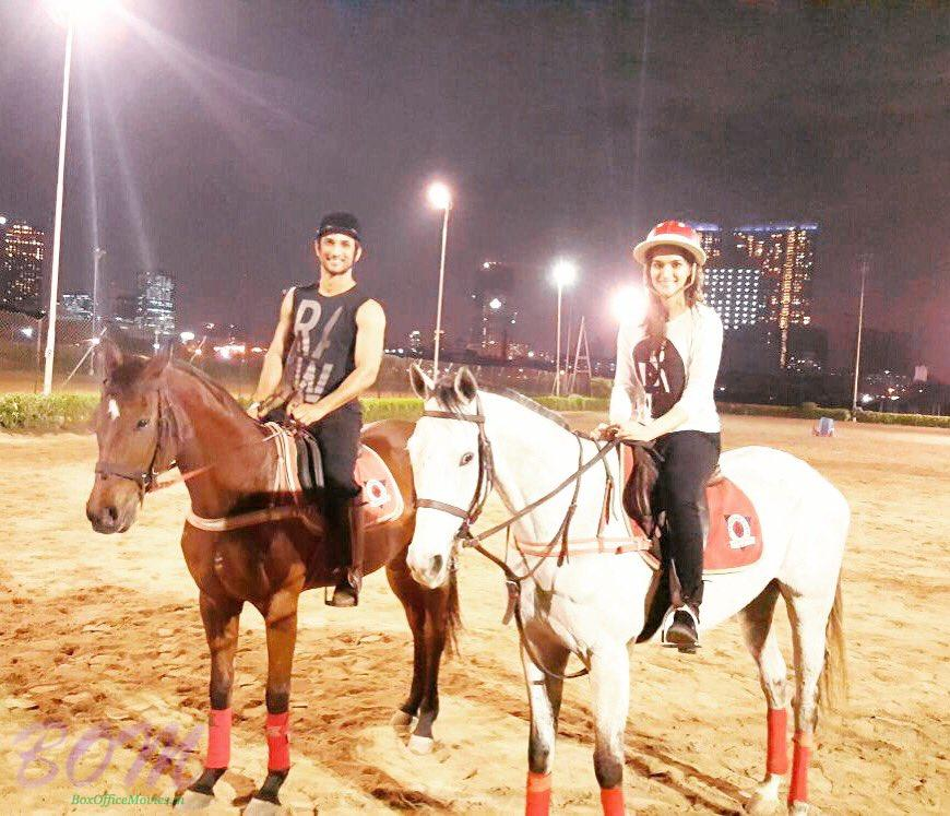 Kriti Sanon horse riding session with Sushant Singh Rajput