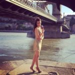 Kriti Sanon with a glass of wine at Danube river in Budapest