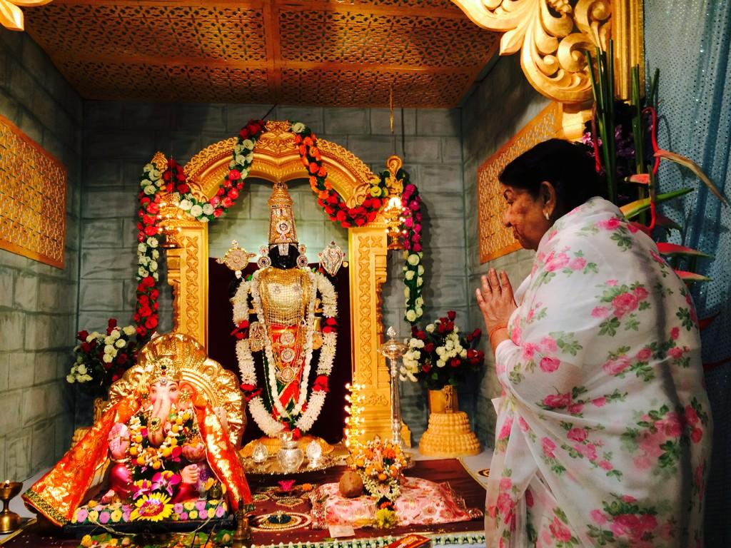 Lata Mangeshkar Ji on Ganesh Chaturthi day 31 August 2014