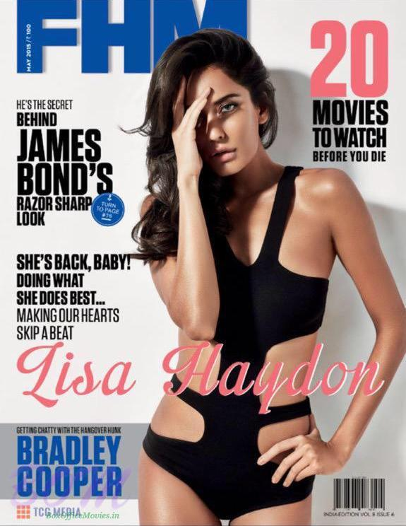Lisa Haydon cover girl for FHM Magazine May 2015 issue