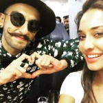 Lisa Haydon selfie with Ranveer Singh